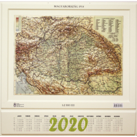 Magyarország 1914 dombortérkép nagy