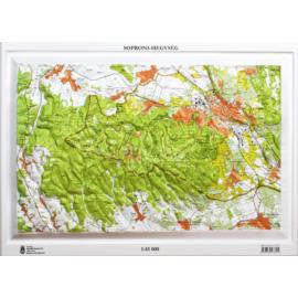 Soproni-hegység dombortérképe