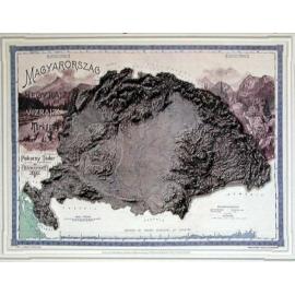 Magyarország domborzata és vizei (Pokorny, 1899, fakszimile)