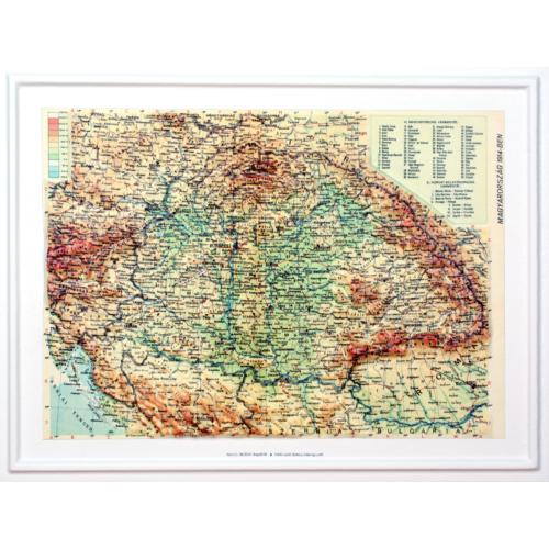 Magyarország 1914 dombortérkép kicsi