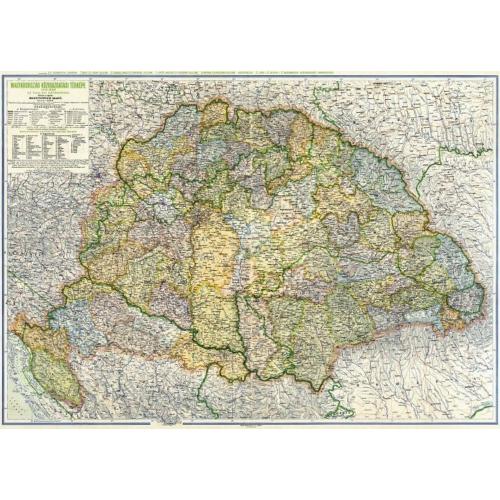 Magyarország közigazgatási térképe (Kogutowitz 1942.)