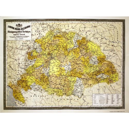 A Magyar Korona Országainak Közigazgatási Térképe