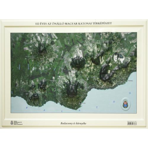 Badacsony és környéke (ortofotó) dombortérképe