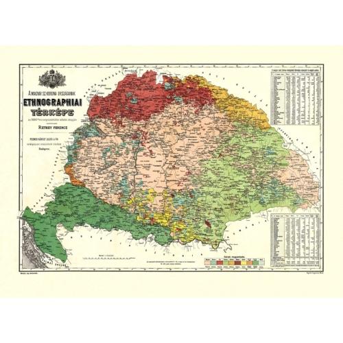 Ethnográfiai térkép (Koguwitz 1886)