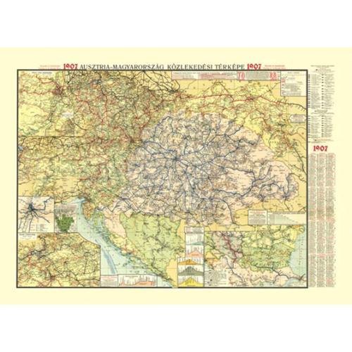 Ausztria-Magyarország közlekedési térképe 1907