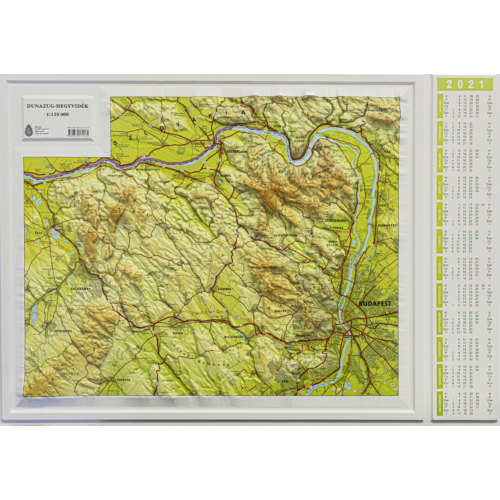 Dunazug-hegyvidék dombornaptár 2021