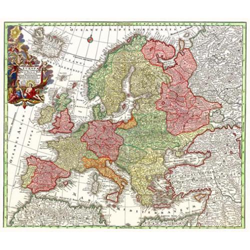 Európa térkép 1729.