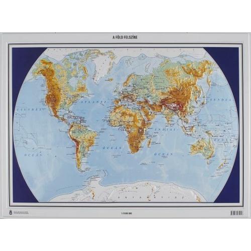 Föld felszínei és országai papírtérkép