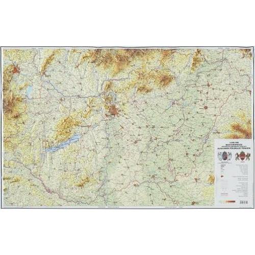 Magyarország általános földrajzi dombortérkép