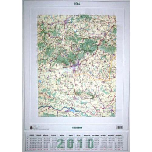 Pécs dombortérképe