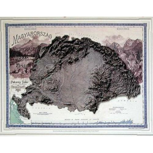 Magyarország domborzata és vizei (Pokorny 1899)