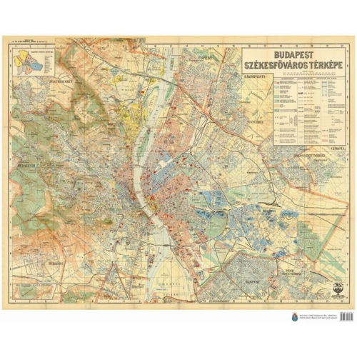 Budapest Székesfőváros térképe (1934)